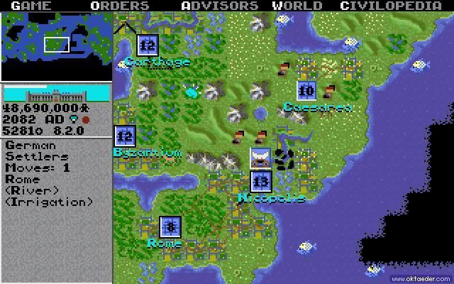 civilization карта мира