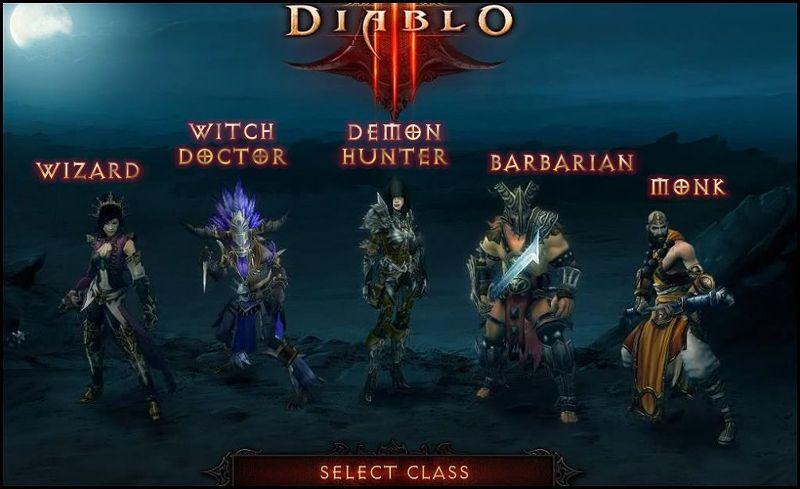 diablo 3 выбор персонажа